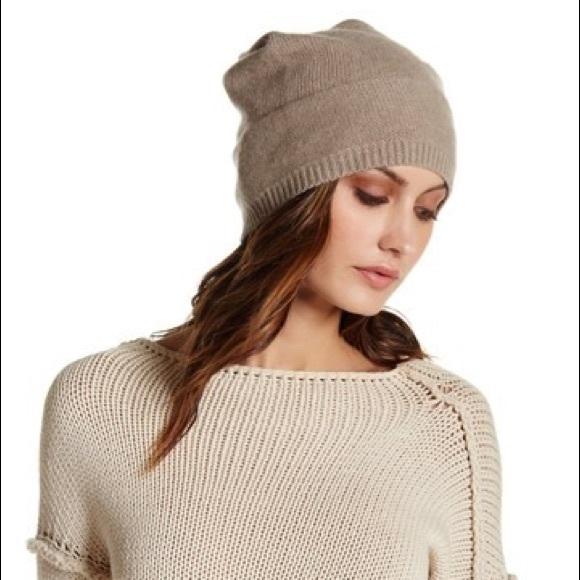 b5a10606241 Portolano Cashmere Slouchy Beanie Hat